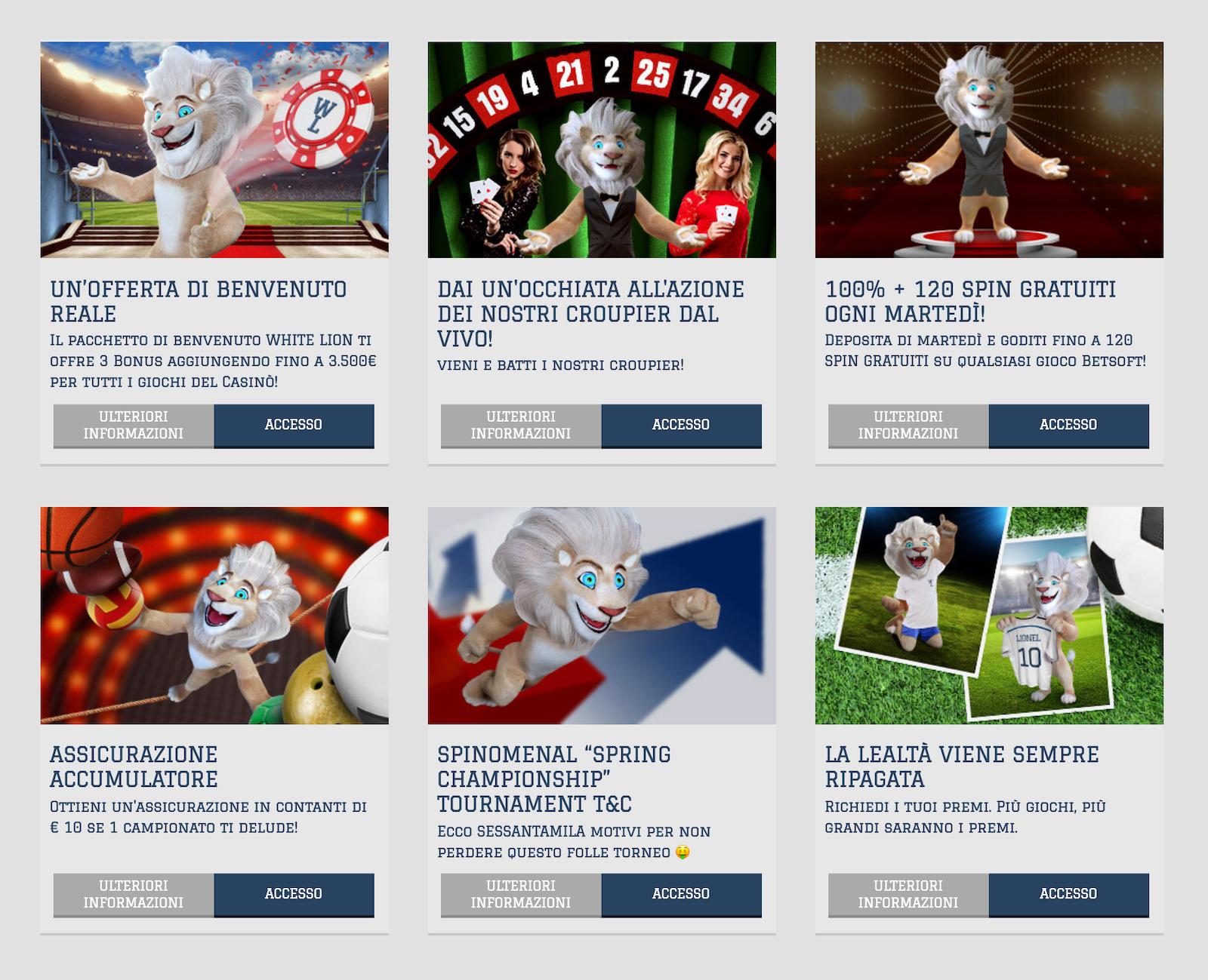 come iniziare a giocare al casinò online white lion bet