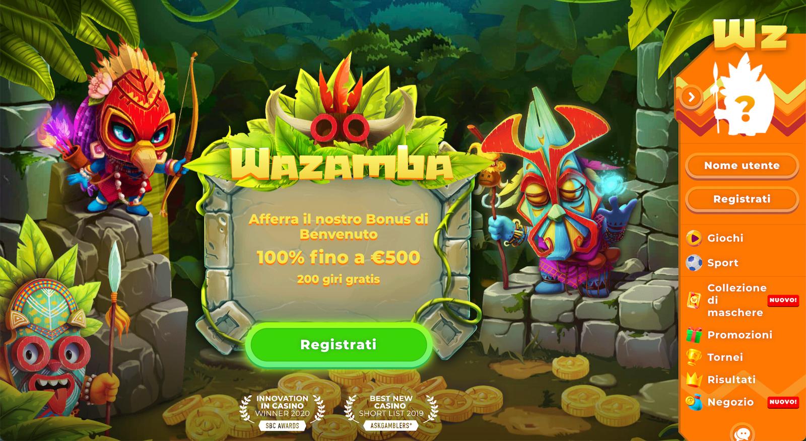 sito ufficiale del casinò wazamba